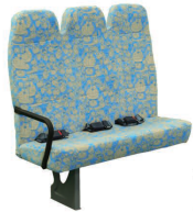 3+2 Fission/Siamese school bus seat